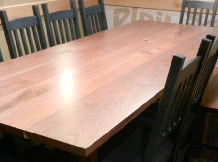 Caribou Coffee Wood Community Table made from Reclaimed Wood