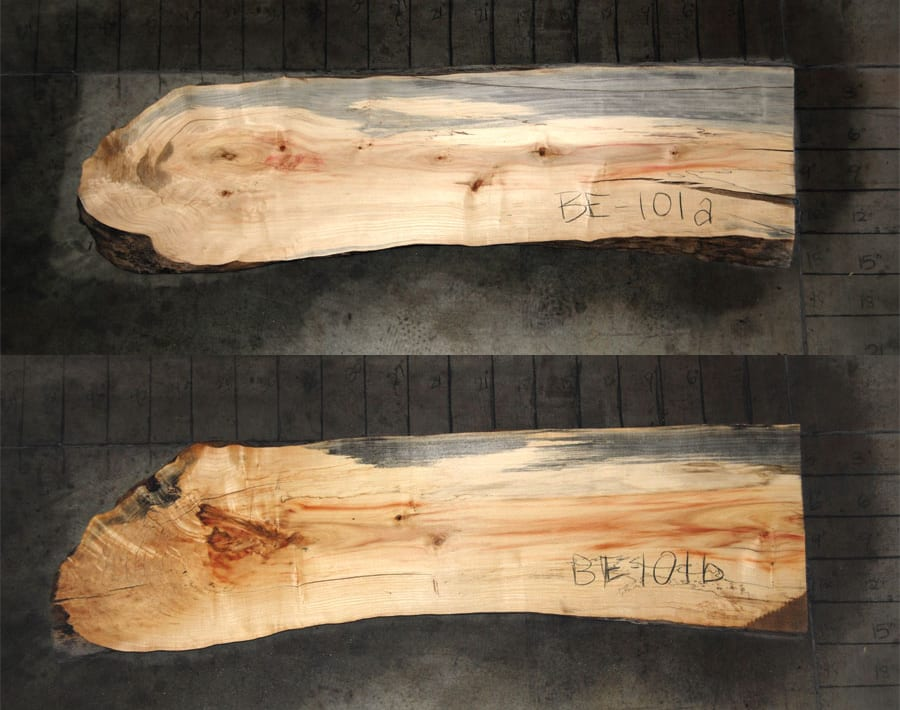 Box Elder Natural Edge Slab Be101a Only 51 X 12 X 2