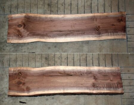 book matched black walnut slabs wood from the hood mineapolis
