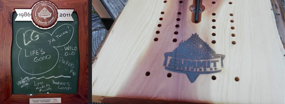 Wood From the Hood Promotional Sign Cribbage Board Summit