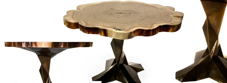 Live Edge Urban Wood End Table