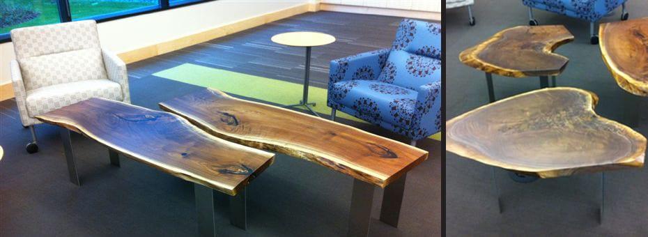 Urban Wood Coffee Tables - United Health Group - Minneapolis