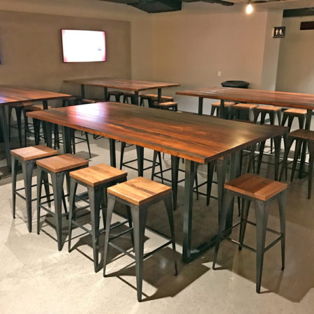 Hi-Top Communal Table Reclaimed Urban Wood