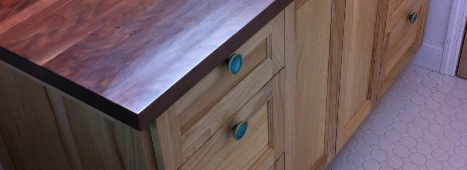 Vanity Counter and Cabinet Wood From The Hood