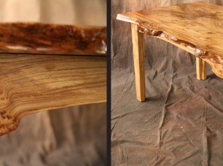 Elm Table Wood From the Hood