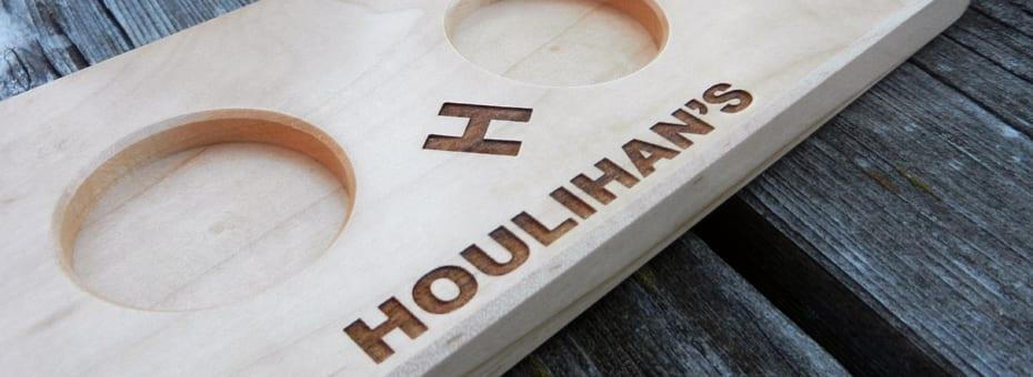 Urban Wood Flight Paddle - Houlihans - Minneapolis