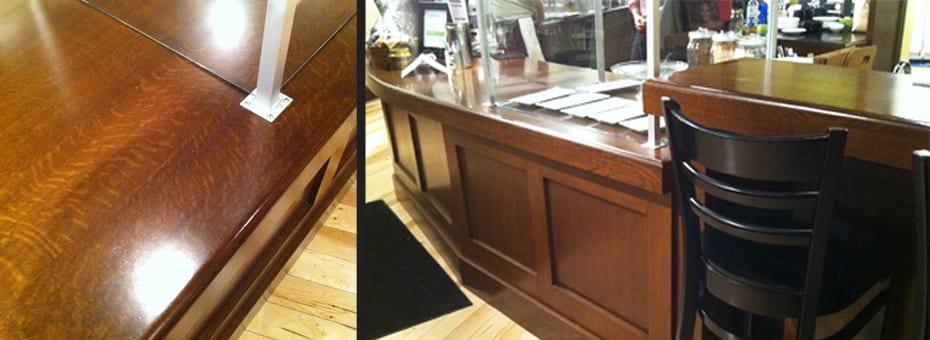 Urban Wood Counter Top - Kopplins Coffee - Minneapolis
