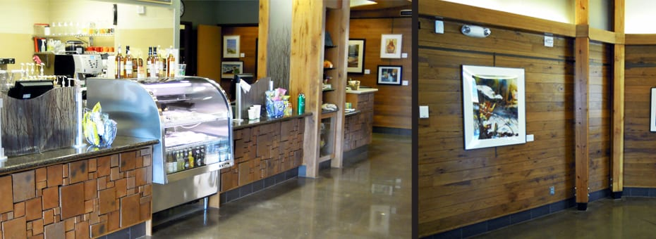 Urban Reclaimed Wood Wall Paneling - Three Rivers Park District - Minneapolis