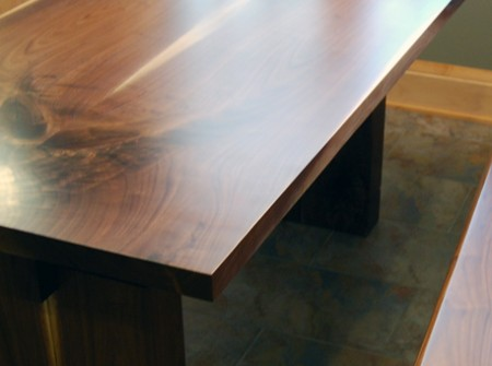Breakfast Nook Kitchen Table and Bench Wood From The Hood