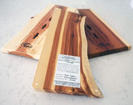 Cribbage Board Live Edge Red Cedar Wood From the Hood