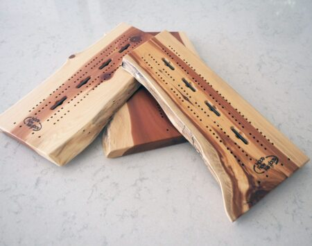 Cribbage Live Edge Natural Wood From the Hood