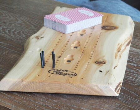 White Cedar Cribbage Board Live Edge Wood From the Hood