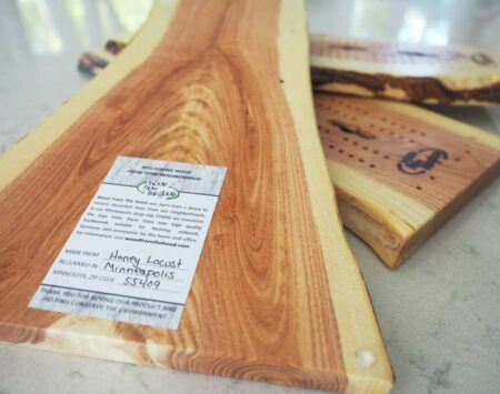 live edge cribbage board Wood From the Hood Honey Locust