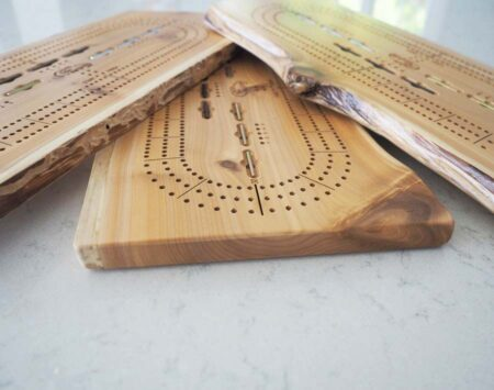 Live Edge Cribbage Board White Cedar Reclaimed Urban Wood From the Hood Minneapolis