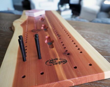 Cribbage Board Natural Live Edge Reclaimed Wood From the Hood