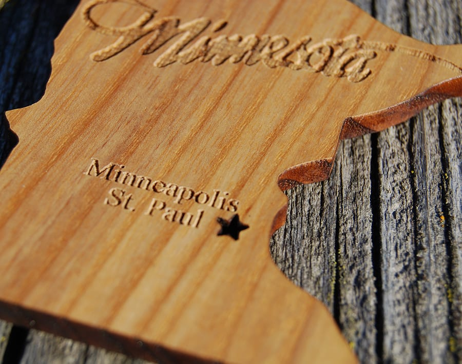 Minnesota Magnet Wood From The Hood