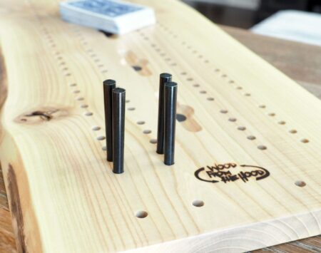 cribbage board live edge hackberry Wood From the Hood