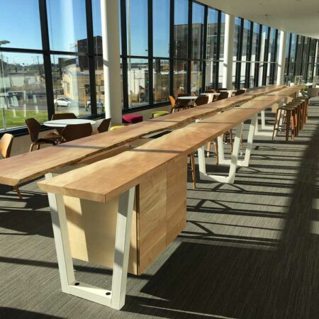 Live-Edge Silver Maple Table | Natural-Edge Wood Table | Custom Office Interior Furniture | Wood From The Hood | Minneapolis