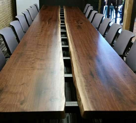 Video, Inc. - Live Edge Conference Table