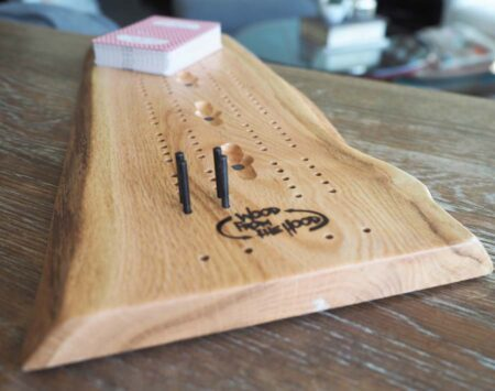 Cribbage Board Solid Wood Reclaimed Red Oak Minneapolis Wood From the Hood