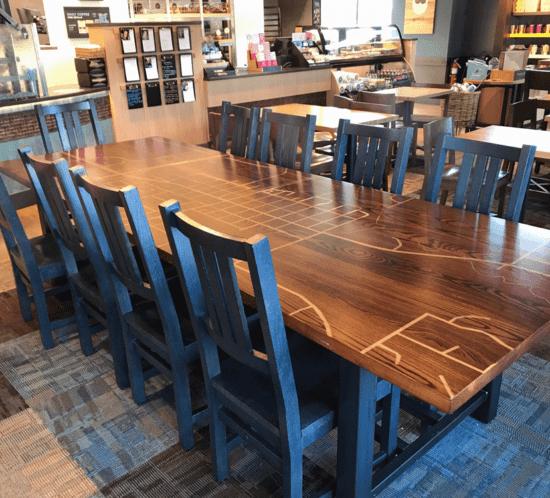 Communal Table - Caribou Coffee & Einstein Bros. Bagels, North Branch
