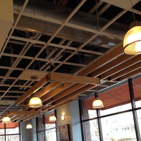 Reclaimed Wood Ceiling - Butter Bakery Cafe - Minneapolis