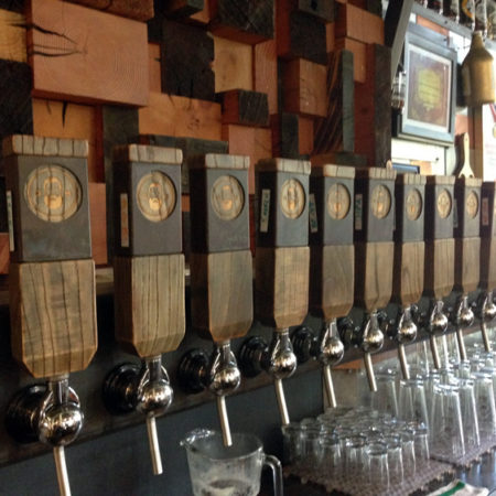 Urban Wood Bar Tap Handles - Dangerous Man Brewing Co. - Minneapolis
