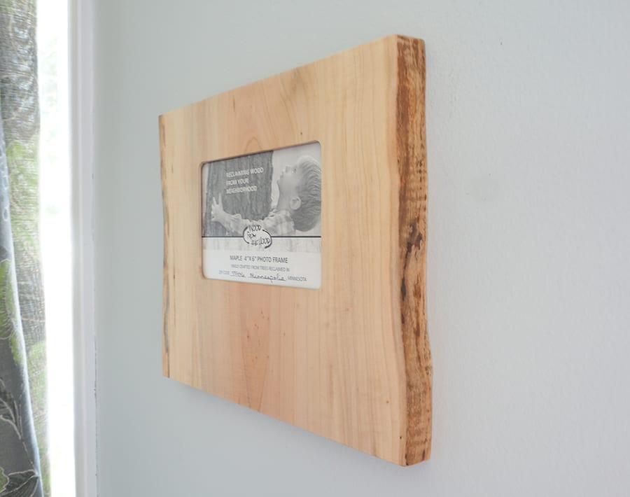 """4"""" x 6"""" Natural Edge Wood Picture Frame - Landscape – Maple 