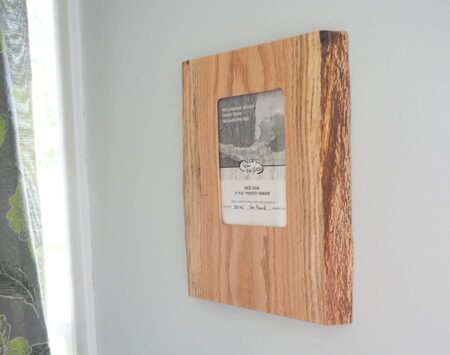 Red Oak Live Edge Reclaimed Picture Frame Urban Wood