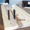 Cribbage Board Live Natural Edge Reclaimed Ash Wood