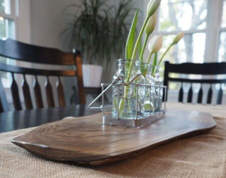 catalpa large centerpiece live edge wood from the hood