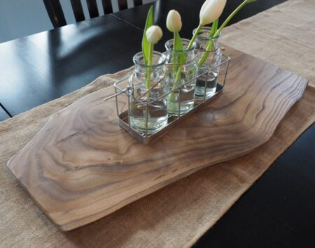 catalpa live edge large wood centerpiece