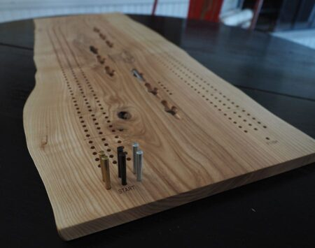 3 player cribbage board live edge reclaimed wood from the hood minneapolis