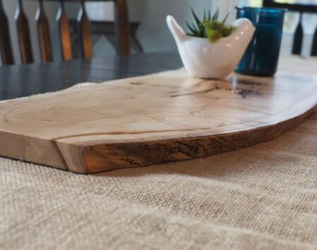 maple live edge centerpiece large
