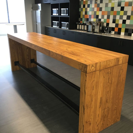 Stained Ash Community Table - Wells Fargo