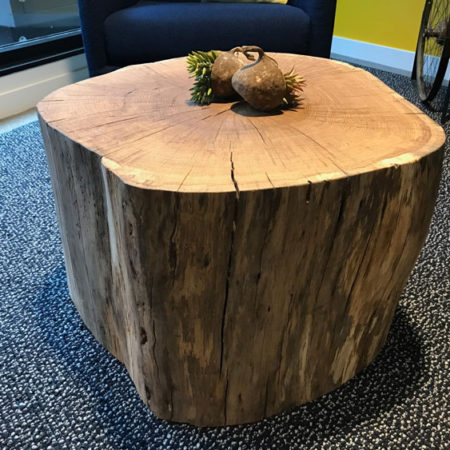 Urban Oak Stump Coffee Table by Willie Willette Works