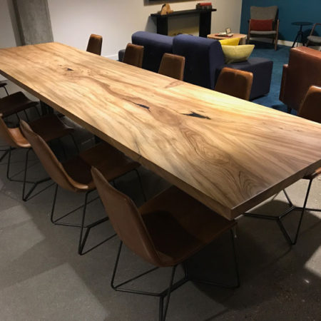 Urban American Elm Community Table by Willie Willette Works
