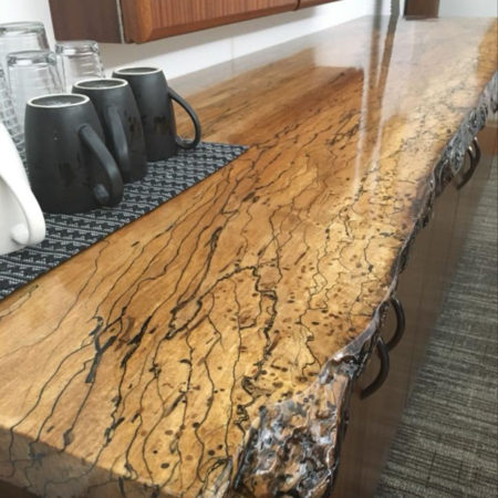 Live Edge Spalted Maple Counter Top - Commercial Interior - Minneapolis