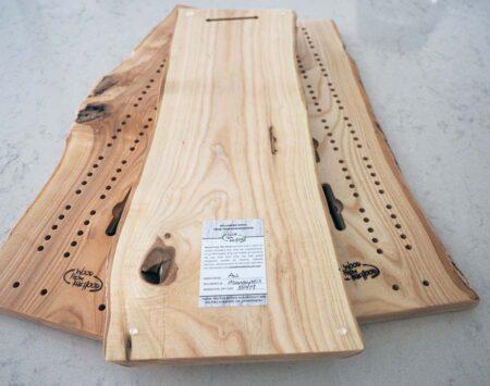 10″ x 23″ Cribbage Board Large – Ash