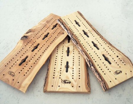 cribbage board live natural edge ash Wood From the Hood