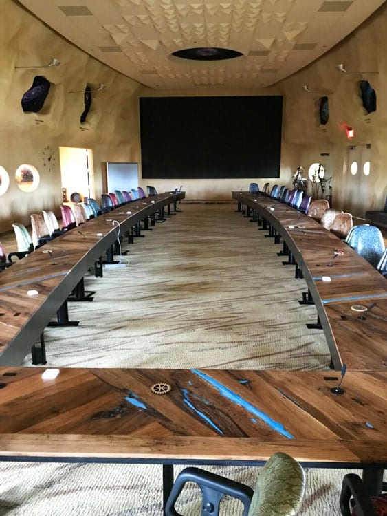Reclaimed Extra Large Conference Table Butternut Blue Epoxy JP - Extra large conference table