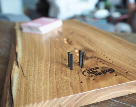 Live Edge Cribbage Board Black Locust Wood From the Hood