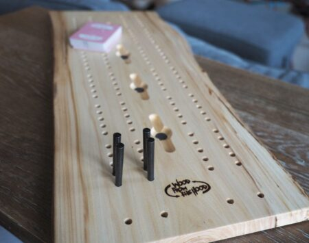 cribbage board live edge reclaimed elm Wood From the Hood