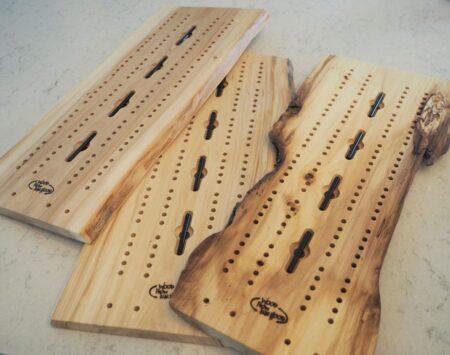 10″ x 23″ Cribbage Board Large – Elm