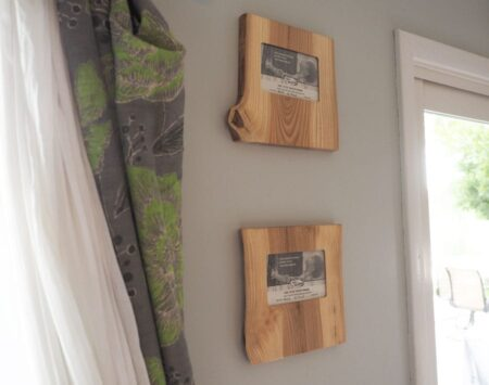 "4"" x 6"" Natural Edge Wood Picture Frame - Landscape – Ash"
