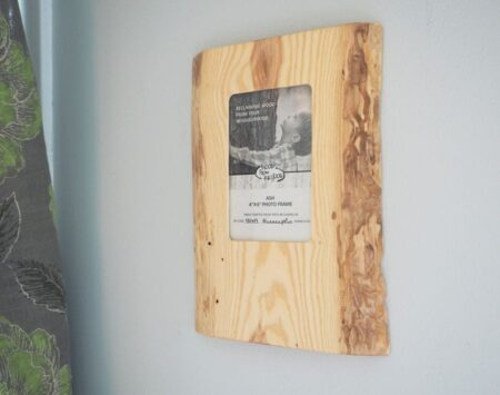 Live Edge Picture Frame Ash Wood From the Hood