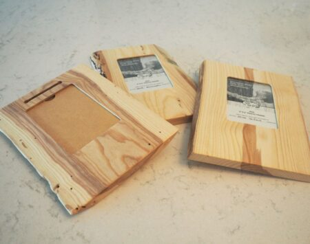 """4"""" x 6"""" Natural Edge Wood Picture Frame - Portrait – Ash"""