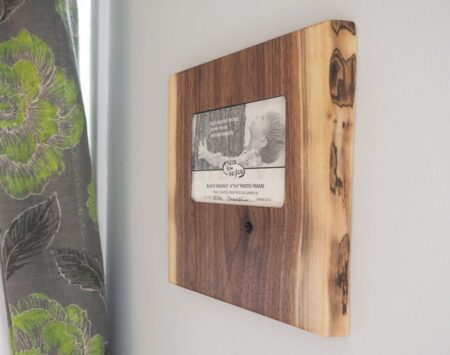 Live Edge Picture Frame Black Walnut Wood From the Hood