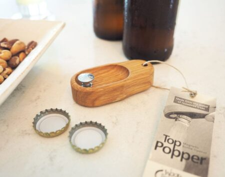 wooden bottle opener white oak top popper Wood From the Hood