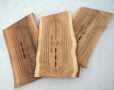 wood cribbage board three player white oak Wood From the Hood